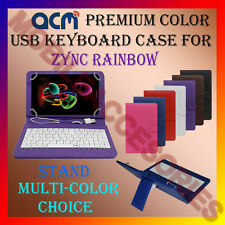 "ACM-USB COLOR KEYBOARD 7"" CASE for ZYNC RAINBOW TABLET LEATHER COVER STAND FLIP"