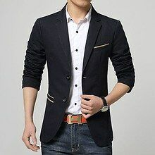 Mens slim fit blazer suit coat jacket + Slim Fit Narrow tie