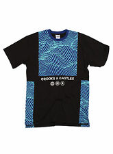 Brand New Crooks And Castles Network T-shirt Black Size S-XL