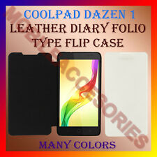 ACM-LEATHER DIARY FOLIO FLIP CASE for COOLPAD DAZEN 1 MOBILE FRONT & BACK COVER