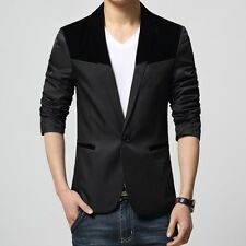 Mens slim fit blazer suit coat jacket + Slim Tie FREE...