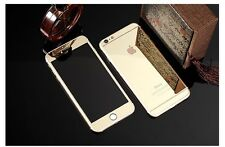 Gold Tempered Glass Screen Protector Front&Back for Apple iPhone 4S 5S 6/ 6 Plus