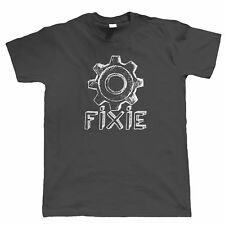 Fixie Cycling or Mountain Bike T-Shirt - Fixed Gear Single Speed Singletrack