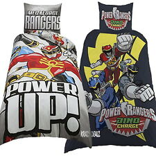Power Rangers Megaforce / Dino Charge Single Panel Duvet Cover Bed Set New Gift