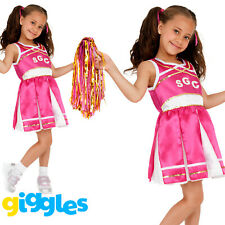 Girls Cheerleader Costume Childrens Child Fancy Dress Kids High School Outfit