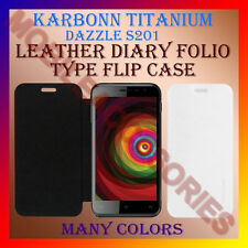 ACM-LEATHER DIARY FOLIO FLIP CASE for KARBONN TITANIUM DAZZLE S201 MOBILE COVER
