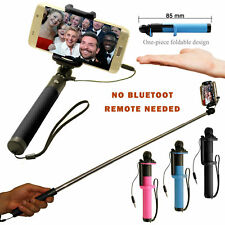 New Compact AUX Monopod Selfie Stick No Bluetooth No Battery Mobile Phone Holder