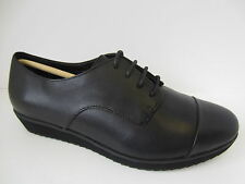 Ladies Black Leather Clarks Lace Up Shoes UK Sizes 4 - 8 Compass Fayre