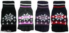 New Ladies/Womens Mittens With Cap Fair Isle Design Rockjock One Size BNWT