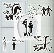 Sticker mural Skunk Zone De Gemma WC Pipi Salon Bad Toilettes