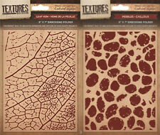 """Crafters Companion - TEXTURES 5x7"""" EMBOSSING FOLDERS - Cardmaking Free UK p&p"""