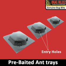 NEW 3 PC ANT STOP BAIT TRAYS INSECT CATCHERS BUGS STOPS PEST CONTROL INSECTICIDE