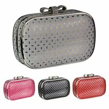 Silver Pink Black Red Hardcase Clutch Bag Wedding Evening Ladies Handbag New