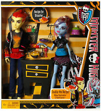 Monster High Classroom 2 Doll - Heath Burns & Abbey Bominable in Home Ick class