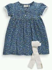 Bnwt NEXT Navy Blue Ditsy Floral Dress & Footless Tights Set 3-4-5-6 yrs
