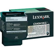 GENUINE LEXMARK C540H1KG HIGH CAPACITY RETURNS PROGRAM LASER TONER CARTRIDGE