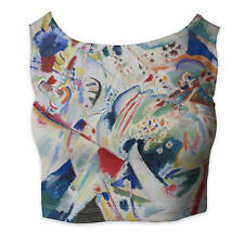 Kandinsky Abstract Art Painting Ladies Crop Top - Sleeveless Sizes XS-3XL