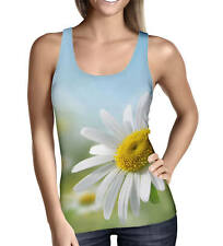 Daisies in Sunshine Ladies Tank Top - Sizes XS-3XL Activewear
