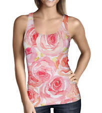 Watercolor Roses Ladies Tank Top - Sizes XS-5XL