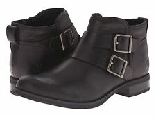 Women's Shoe Timberland Savin Hill Double Buckle Ankle Boot TB0A12V8 Black *New*