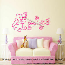 Classic Winnie the Pooh Wall Stickers for Nursery Personalized Name Room Decals