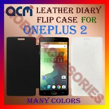 ACM-LEATHER DIARY FOLIO FLIP FLAP CASE for ONEPLUS 2 MOBILE FRONT & BACK COVER