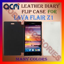 ACM-LEATHER DIARY FOLIO FLIP FLAP CASE for LAVA FLAIR Z1 MOBILE FRONT/BACK COVER