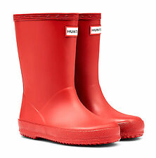 HUNTER FIRST KIDS' WELLINGTON BOOTS – MILITARY RED  - KFT5003RMA