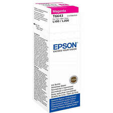 NEW GENUINE EPSON ECOTANK T6643 ORIGINAL MAGENTA 70ML INK BOTTLE (C13T664340)