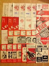 Leigh Rugby League Programmes 1964 - 1992