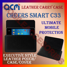 ACM-HORIZONTAL LEATHER CARRY CASE for CHEERS SMART C33 MOBILE POUCH COVER HOLDER