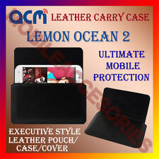 ACM-HORIZONTAL LEATHER CARRY CASE for LEMON OCEAN 2 MOBILE POUCH COVER HOLDER