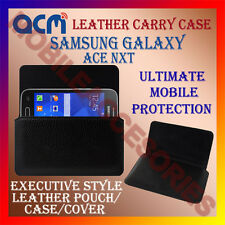 ACM-HORIZONTAL LEATHER CARRY CASE for SAMSUNG GALAXY ACE NXT MOBILE COVER HOLDER