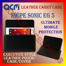 ACM-HORIZONTAL LEATHER CARRY CASE for SWIPE SONIC EG 5 MOBILE COVER HOLDER NEW