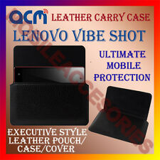 ACM-HORIZONTAL LEATHER CARRY CASE for LENOVO VIBE SHOT MOBILE COVER HOLDER POUCH
