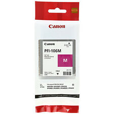 GENUINE ORIGINAL CANON PFI-106M MAGENTA INK CARTRIDGE (6626B001AA)