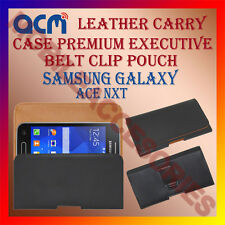 ACM-BELT CASE for SAMSUNG GALAXY ACE NXT MOBILE LEATHER POUCH COVER HOLDER CLIP