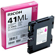 GENUINE ORIGINAL RICOH 405767 LOW YIELD MAGENTA GEL INK CARTRIDGE (GC41ML)