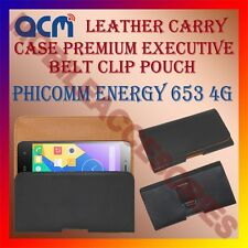 ACM-BELT CASE for PHICOMM ENERGY 653 4G MOBILE LEATHER POUCH COVER HOLDER LATEST