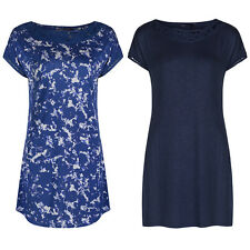 Marks & Spencer Womens Tunic Tops New M&S Short Sleeve Smart Blue Blouse Top
