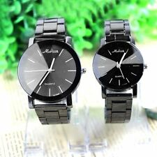 New Fashion Women Men Stainless Steel Watches Analog Quartz Movement Wrist Watch