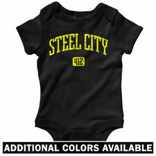 Steel City 412 Pittsburgh One Piece - PA Baby Infant Creeper Romper - NB to 24M