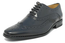 Boys Black Leather Lined Lace Up Smart Brogues Shoes 10 11 12 13 1 2 3 4 5 5.5