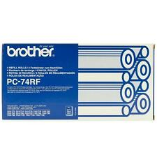 ORIGINAL BROTHER PC71RF FAX MACHINE ROLL FOUR PACK / 4 ROLLS / BRAND NEW SEALED