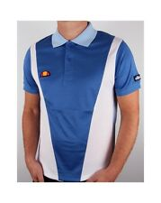 Ellesse Heritage - Guillermo Polo Shirt in Cobalt Blue & White / Vilas Retro 80s