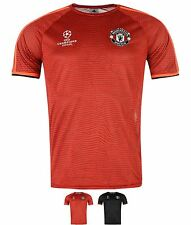 MODA adidas Manchester United Champions League Training Top Mens Black/Solar Red
