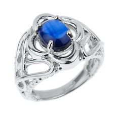 Sterling Silver Celtic Trinity Knot Kyanite Gemstone Ring