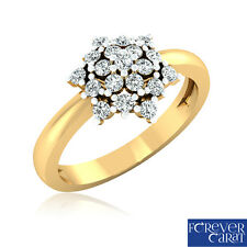 0.22Ct Certified Natural & Real Diamond Ring 14k Hallmarked Gold Jewellery