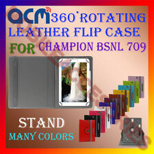 ACM-ROTATING 360° LEATHER FLIP STAND COVER CASE for CHAMPION BSNL 709  TABLET