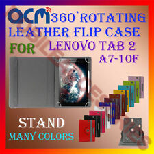 ACM-ROTATING 360° LEATHER FLIP STAND COVER CASE for LENOVO TAB 2 A7-10F TABLET